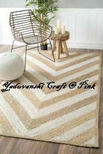 Decorative Carpet Weave Rag Rugs Indian Cotton Braided Floor Jute Mat Handmade