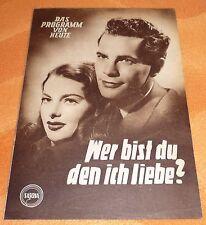 """altes Film/Kinoprogramm """"WER BIST DU, DEN ICH LIEBE?"""""""