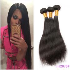 150g/3bundles straight human hair extensions Brazilian 100% Virgin weave weft