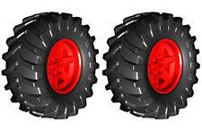 2 Lego TRACTOR Tires + Wheels (technic,tyre,tread,xerion,trac)