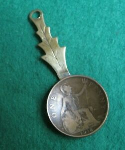 Vintage 1918 Penny Handcrafted Tea Caddy Spoon