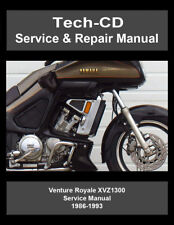 Yamaha motorcycle manuals literature ebay yamaha venture royale service repair manual xvz1300 xvz13d 1986 1993 fandeluxe Images