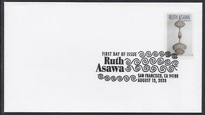 US 5512 Ruth Asawa Artwork I BWP FDC 2020