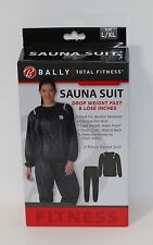 New Bally Total Fitness 2 pc Sauna Suit Black Size L/XL