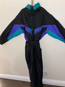White Fir Ski Suit Snowboarding Outfit Mens XL 90's Black New Thermolite DuPont