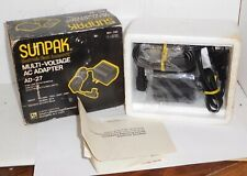 Sunpak Ad-27 ~ Multi Voltage Ac Adapter