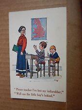 "Postcard School Humour Cheeky child unposted ""Please Teacher """