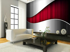 Abstract Metallic- Red Wall Mural Photo Wallpaper GIANT DECOR Paper Poster