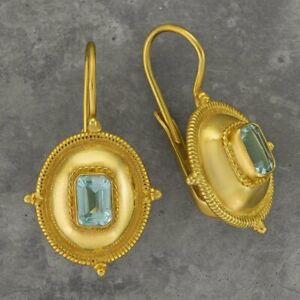 Kirov Blue Topaz Earrings: Museum of Jewelry