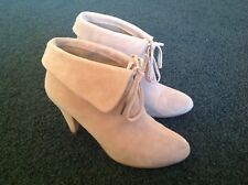BASQUE Rhonda Women's Suede Leather Ankle Boots ~ Taupe ~ Size 37