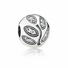 Authentic Pandora Charm Sterling Silver 791416CZ  CLIP SPARKLING LEAVES