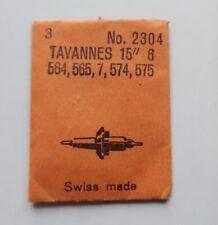 "Balance staff Unruhwelle Asse bilanciere Axe balancier TAVANNES CYMA 19/"" 1B  NOS"
