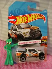 '17 FORD F-150 RAPTOR #57 WW✰White;EcoBoost✰✰HOT TRUCK✰2018 i Hot Wheels case C
