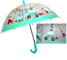 Transparent Kuppel-Schirm Stockschirm Kinder Regenschirm TAXI,