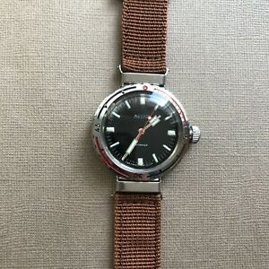 Early rare vintage USSR watch Vostok AMPHIBIAN divers to swing the lugs service