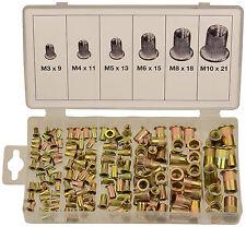 Surtido de 150 Remaches Roscados Tuerca de Acero M3 M4 M5 M6 M8 M10 - Bgs 14126