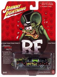 2021 Johnny Lightning RAT FINK Black 1966 Cadillac Hearse Ed Big Daddy Roth NIP