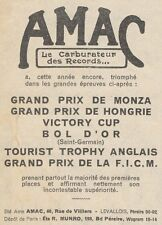 Y9931 AMAC - Carburateur pour motos - Pubblicità d'epoca - 1931 Old advertising