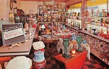 HUBBARD, OR  Oregon    ENGLISH'S ANTIQUES Interior    Roadside c1960's Postcard