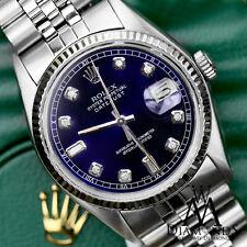 Rolex 31mm Datejust Classic Blue 8+2 Baguette Cut Diamond Numbers 18K & Steel