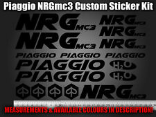 Piaggio NRG mc3 Custom Decals/Stickers in ALL COLOURS 50 70 125 172 180 183