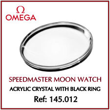 Ω OMEGA Speedmaster Moon Watch Acrylic Crystal Glass + Ring For Ref 145.012 Ω