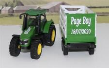 Wedding Day Gift Personalised Page Boy Name Green Farm Tractor & Trailer Present