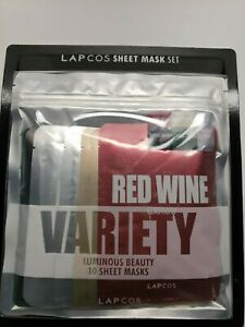Lapcos Luminous Beauty Facial Mask Set, 10 Piece Variety Pack Sheet Masks. New