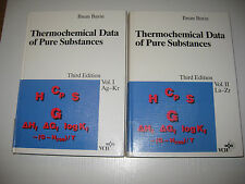 Thermochemical Data of Pure Substances Vol. 1+2 von Ihsan Barin , 3.rd ed. 1995