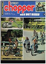 STREET CHOPPER OCTOBER 1973 SEE CONTENT AEE 70's STYLE CUSTOM CHOPPERS TECH TIPS
