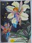 ACEO ORIGINAL Watercolor Lily Night Sing An Elfin Serenade NURSERY ART Anna Lee