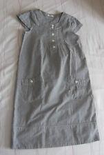 robe longue 10 ans grise avec rayures verticales
