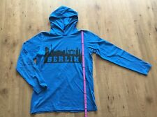 Langarmshirt mit Kapuze.Gr.:164/170 von Arizona. Motiv: Berlin. Blau. Neuwertig.