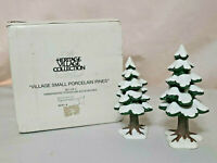 Dept 56 Heritage Village Collection Small Porcelain Pines Set Of 2 W/Box EUC