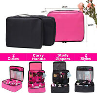 Large Makeup Bag Cosmetic Case Storage Handle Travel Organizer Bags Wash Pouch