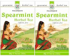 Spearmint Herbal Tea - 80 Tea Bags (2 Boxes) - Palanquin Brand