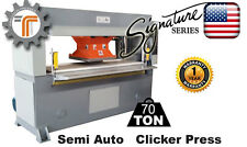 NEW!! CJRTec 70 Ton Traveling Head Clicker Press Hydraulic Die Cutting Machine