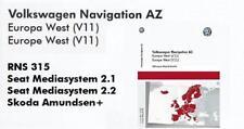 VOLKSWAGEN RNS 315 v11 Europa Occidentale 2019 più recente aggiornamento Mappe SD CARD NAVIGAZIONE AZ