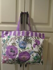 New Estee Lauder tote shopping bag large flower purple pretty
