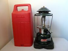 Coleman Green Single Mantle Lantern 286A w/ Case Dated 3/88