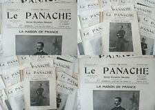 Le PANACHE - Revue Royaliste Illustrée de 1902 à 1914 - Forain, Caran d'Ache,..