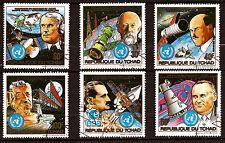 TCHAD personnages de la technique de l'espace,fusées,satellites  154T3