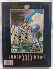 JERRY RICE SIGNED SUPER BOWL XXIX GAME PROGRAM 1994-1995 SAN FRANCISCO 49ers!!!!