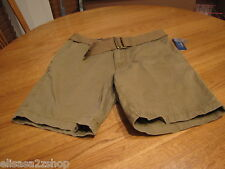 American Rag 34 slim men's walk shorts with belt casual dull gold brown 124306