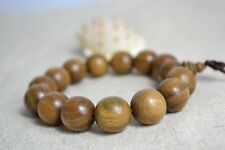 Green Sandalwood Wrist Mala 12MM Prayer Bead Bracelet Stretch