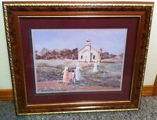 Homco Home Interiors Picture Vintage by Ann Mount Church School African American