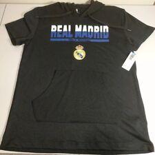 Real Madrid Hala Madrid Soccer Hoodie Short Black Official Merch La Liga NWT L