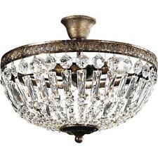 Kronleuchter Lüster Krone Deckenleuchte Kristallbehang gold braun Höhe bis 25 cm
