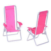 Doll Accessories Mini Furniture Folding Beach Chair Kids Toy SE