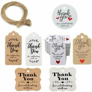 Handmade Signage Gift Labels Craft Tags Thank You Cake Toppers Decorations Card